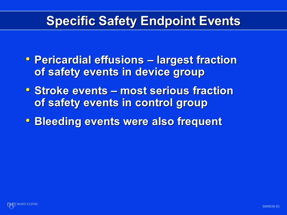Specific Safety Endpoint Events