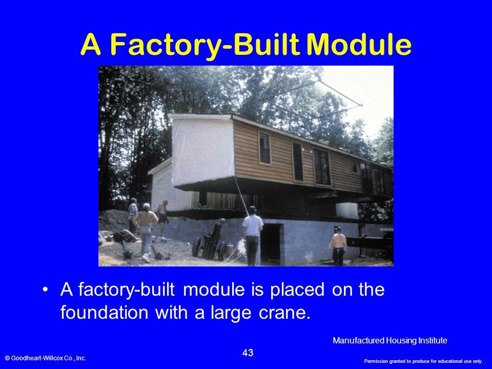 A Factory-Built Module