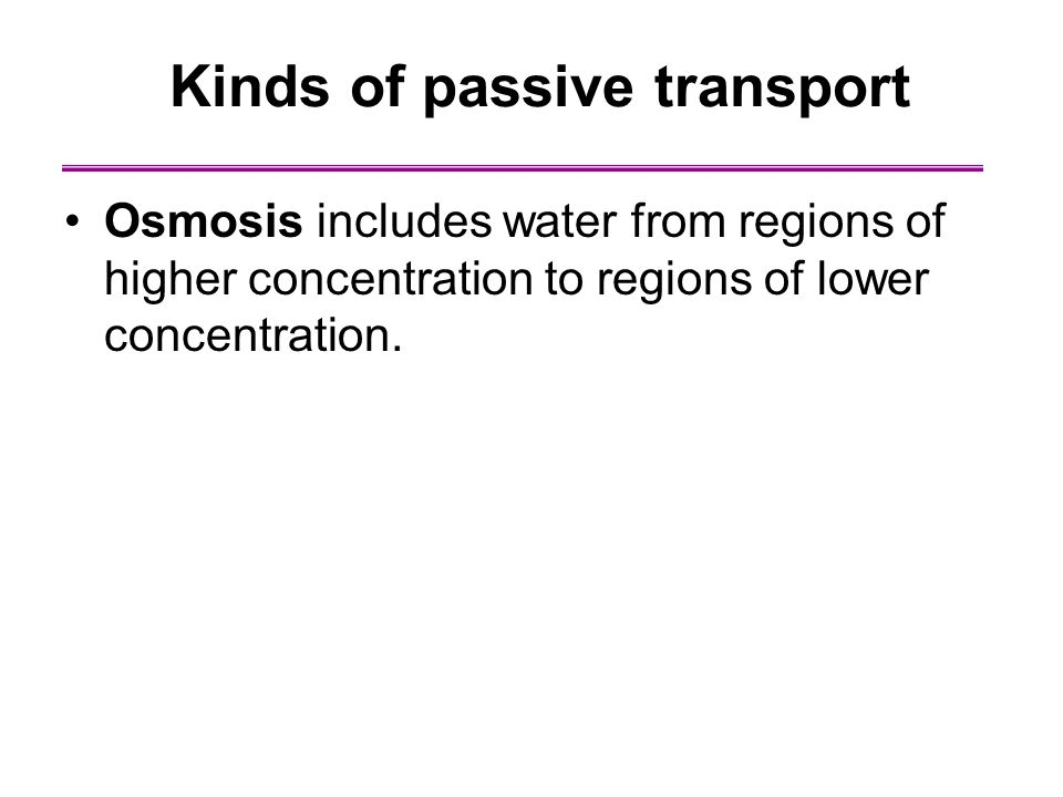 Kinds of passive transport