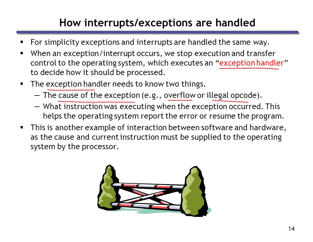 How interrupts/exceptions are handled