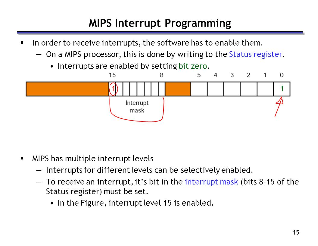 MIPS Interrupt Programming