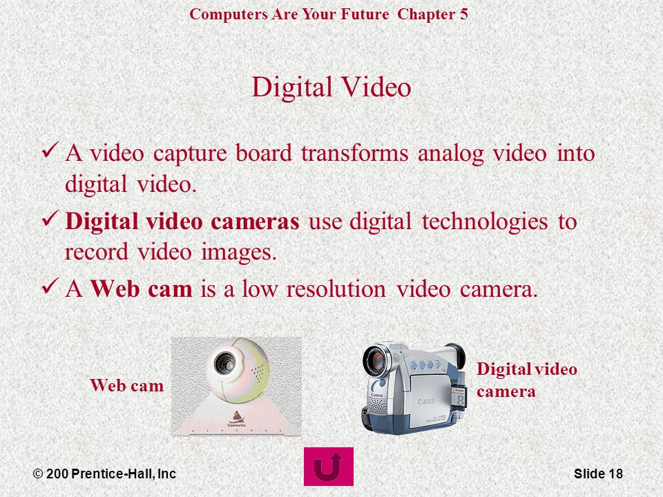 Digital Video A video capture board transforms analog video into digital video.