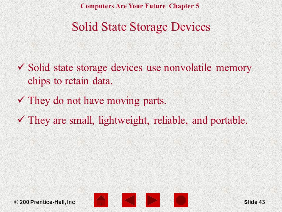 Solid State Storage Devices