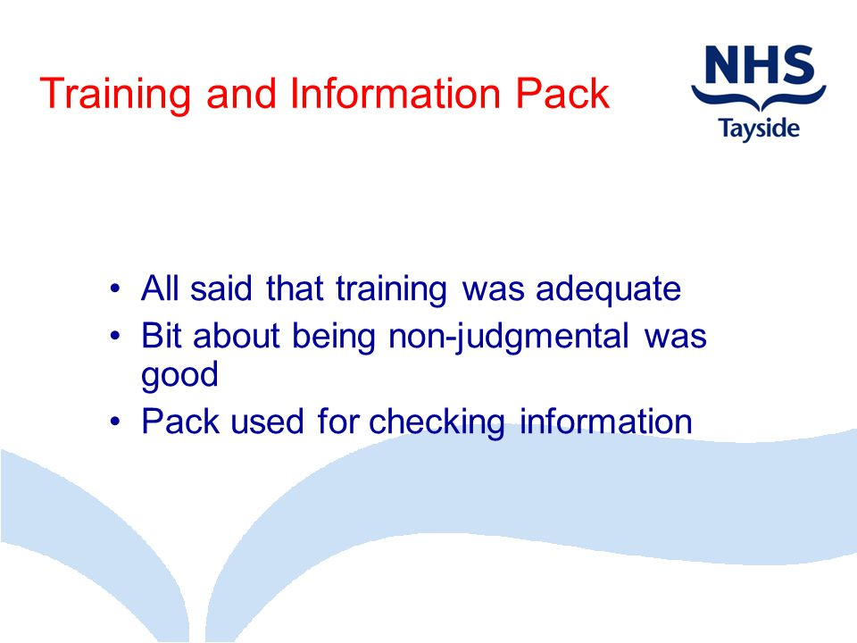 Training and Information Pack