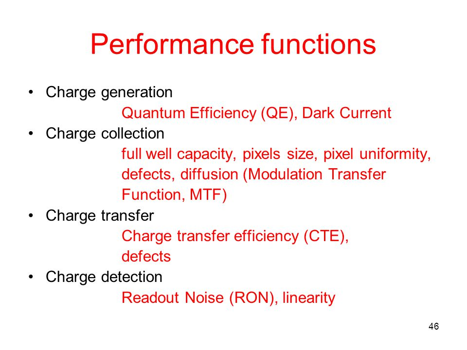 Performance functions