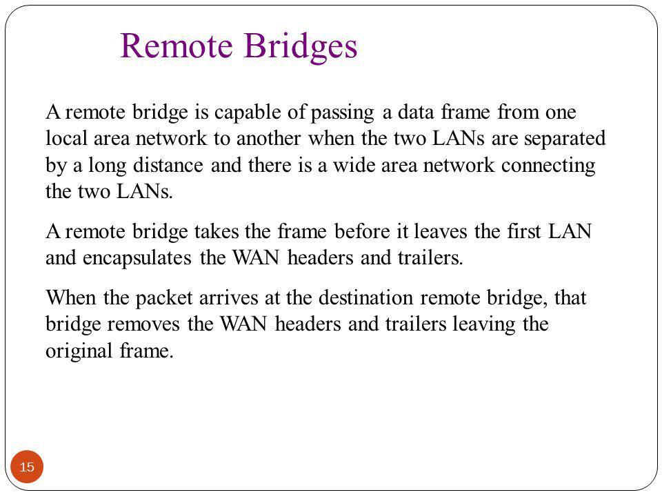 Remote Bridges