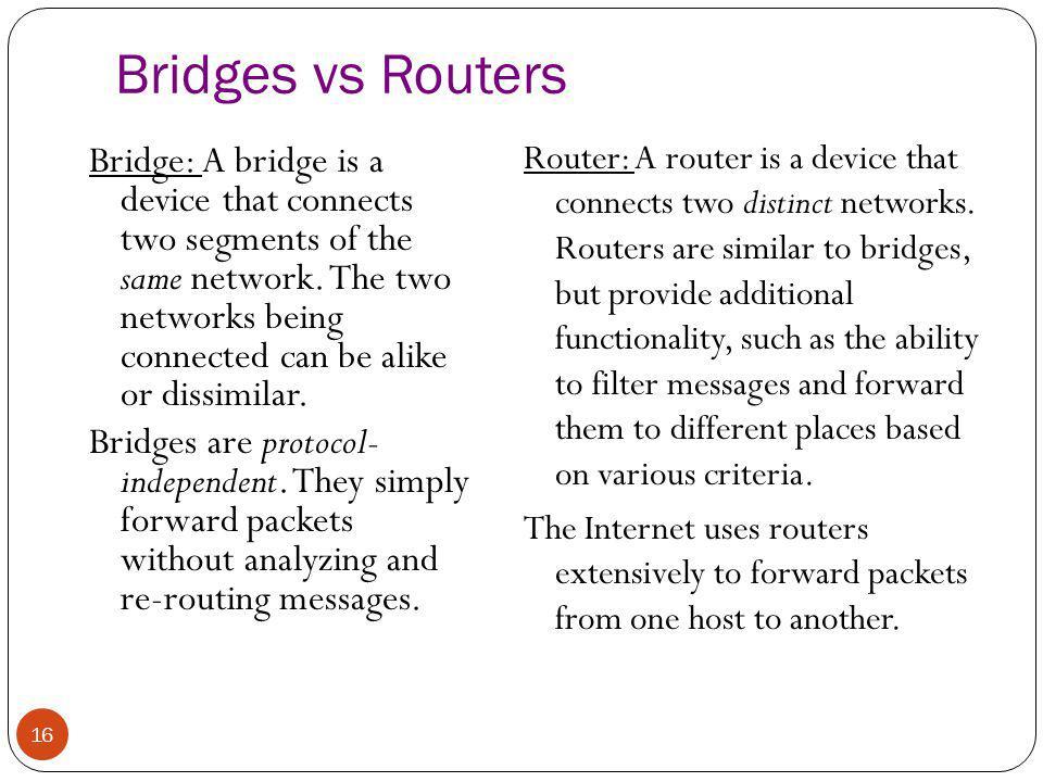 Bridges vs Routers