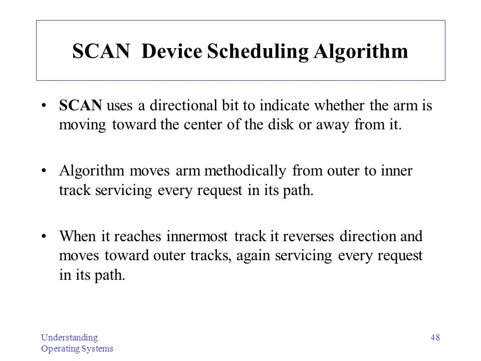 SCAN Device Scheduling Algorithm