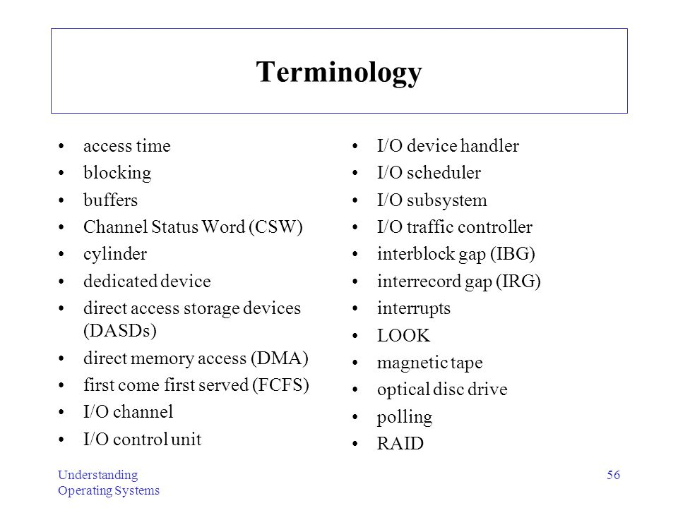 Terminology access time blocking buffers Channel Status Word (CSW)