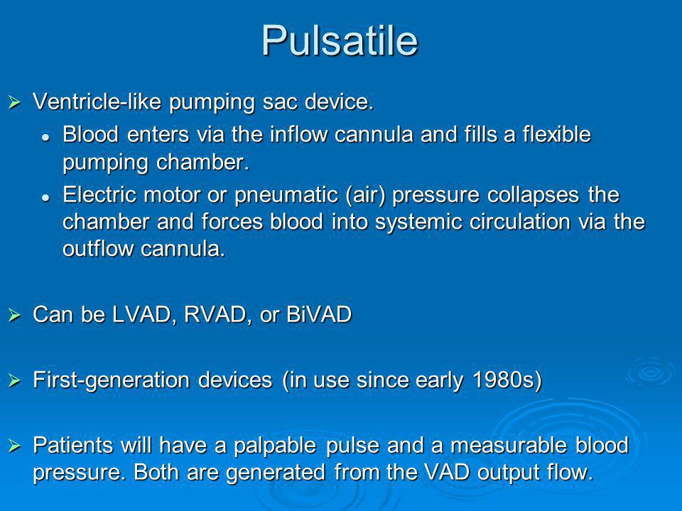 Pulsatile Ventricle-like pumping sac device.