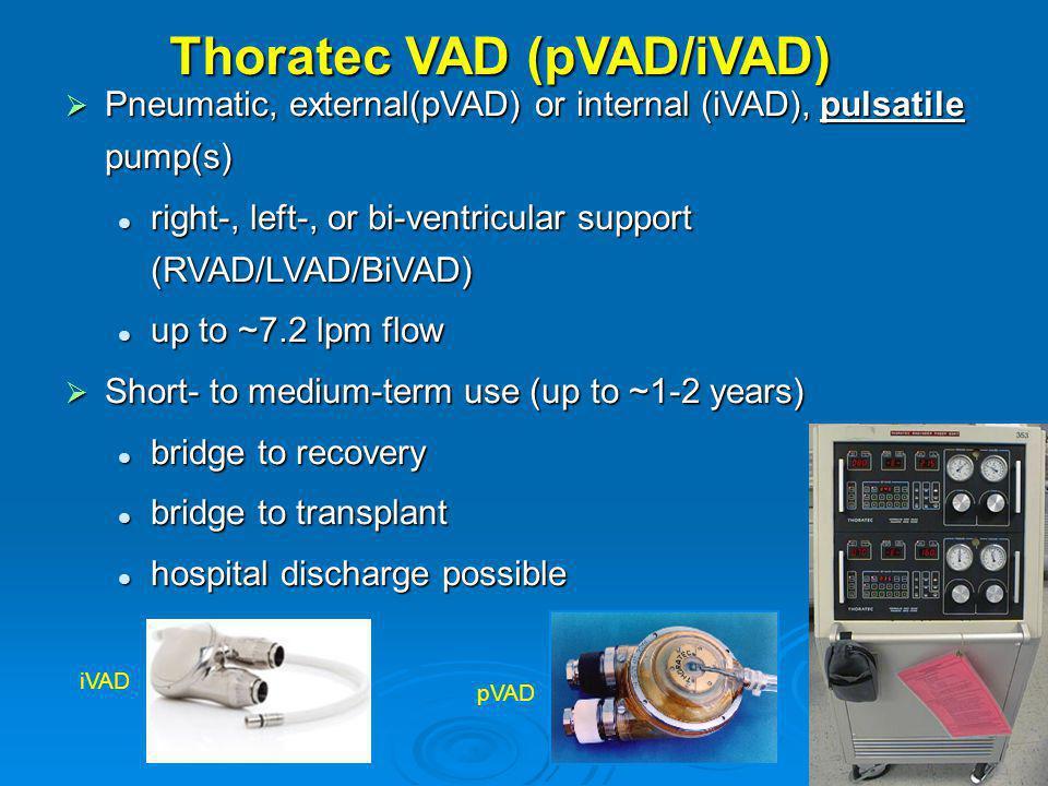 Thoratec VAD (pVAD/iVAD)