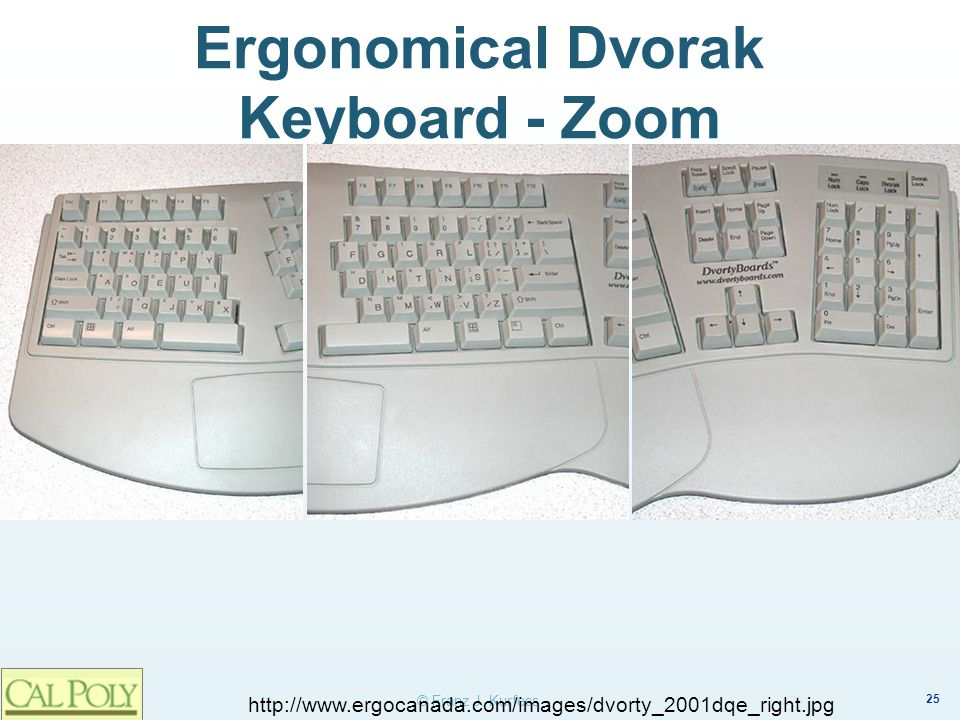 Ergonomical Dvorak Keyboard - Zoom
