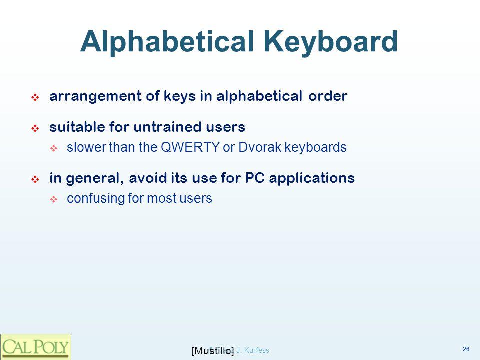 Alphabetical Keyboard