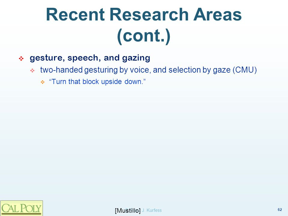 Recent Research Areas (cont.)