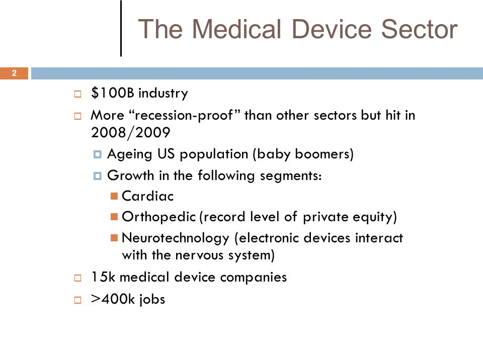 The Medical Device Sector
