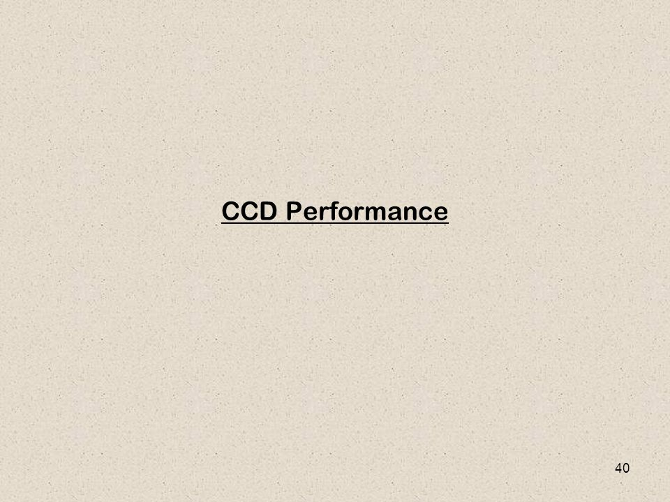 CCD Performance
