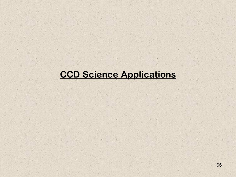 CCD Science Applications