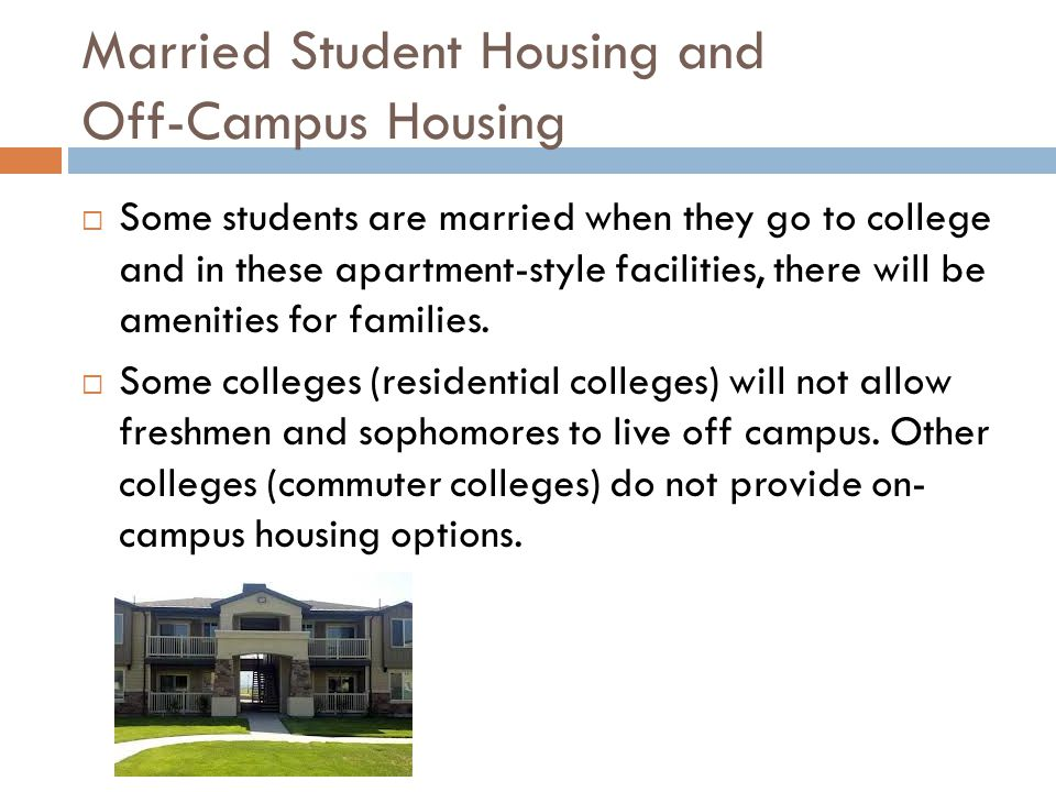 Married Student Housing and Off-Campus Housing