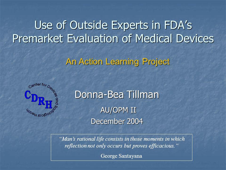 Donna-Bea Tillman AU/OPM II December 2004