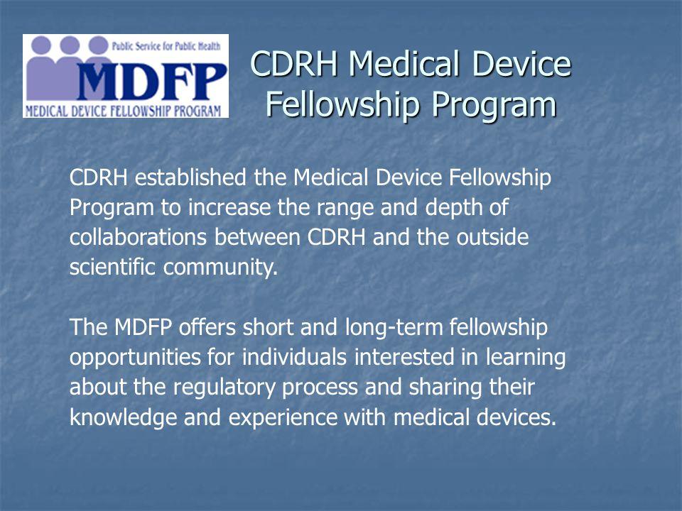 CDRH Medical Device Fellowship Program