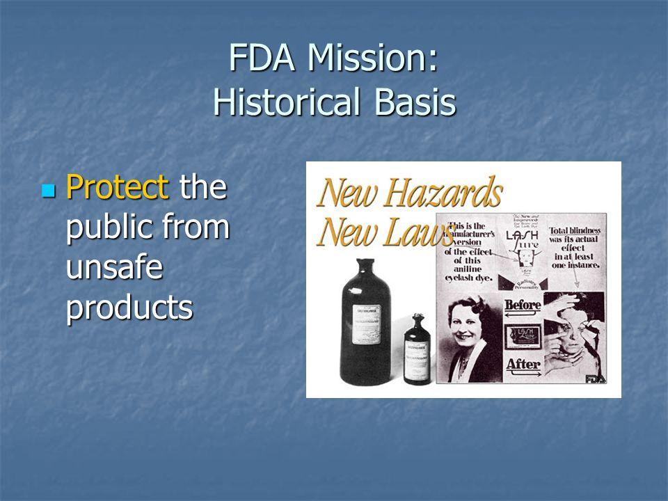 FDA Mission: Historical Basis