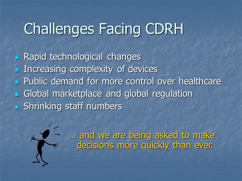 Challenges Facing CDRH
