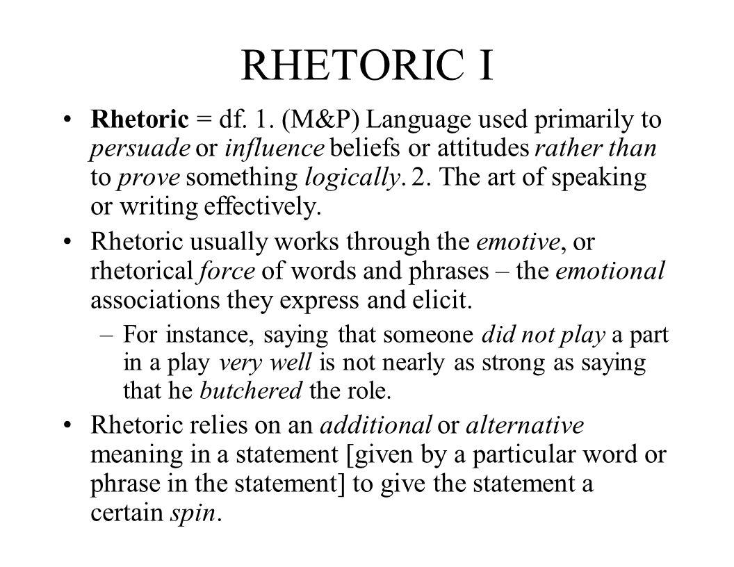 RHETORIC I
