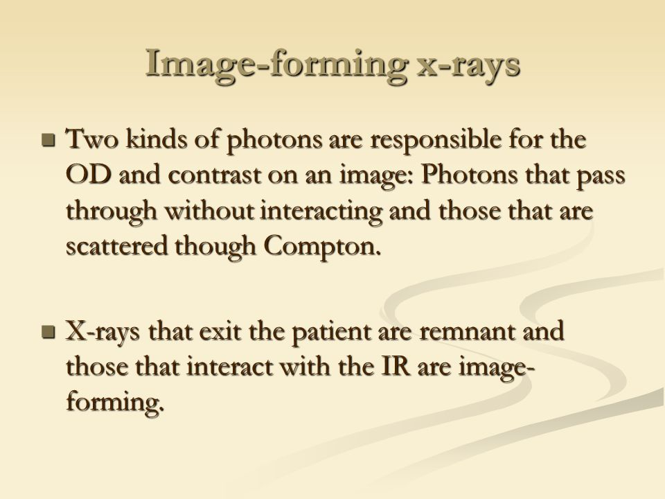 Image-forming x-rays