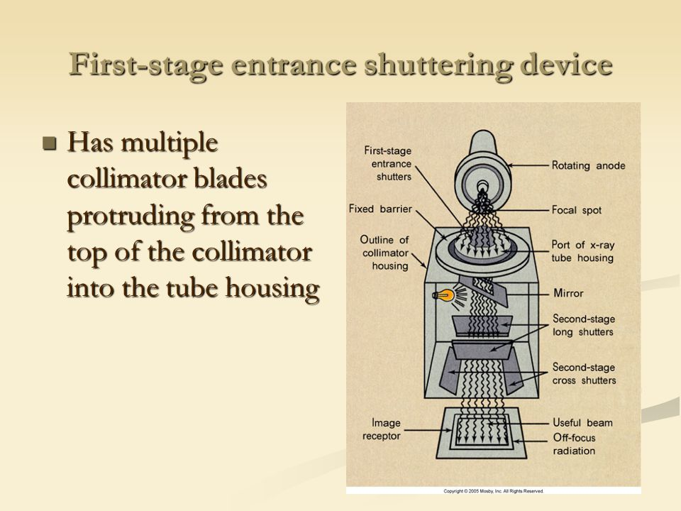 First-stage entrance shuttering device