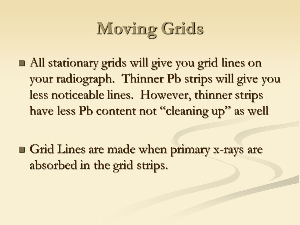 Moving Grids