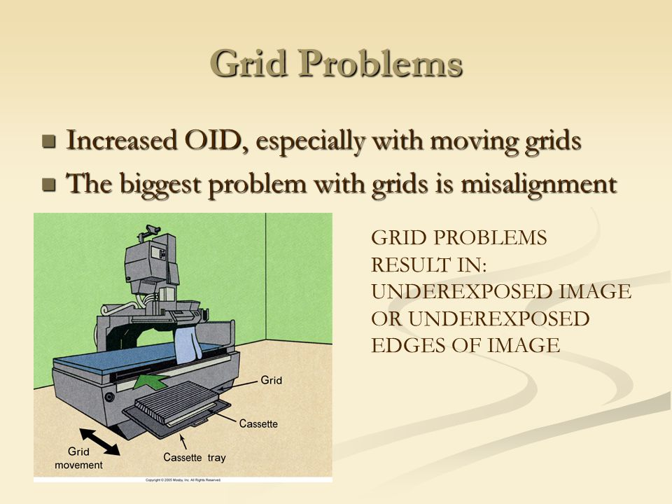 Grid Problems Increased OID, especially with moving grids
