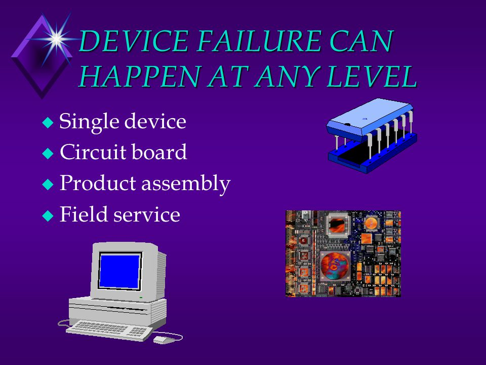 DEVICE FAILURE CAN HAPPEN AT ANY LEVEL