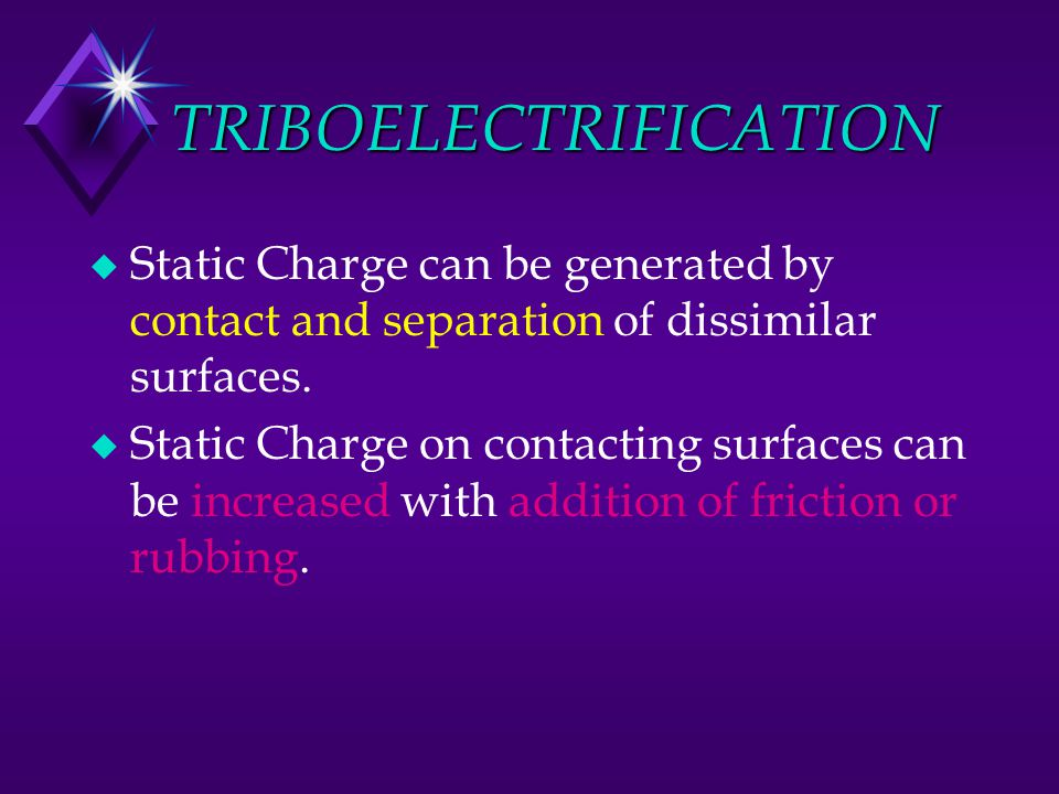 TRIBOELECTRIFICATION