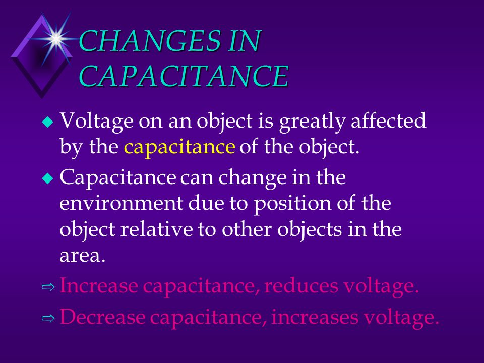 CHANGES IN CAPACITANCE