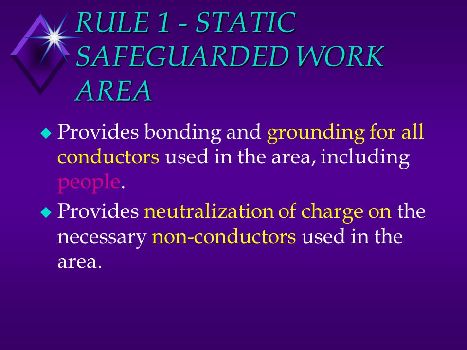 RULE 1 - STATIC SAFEGUARDED WORK AREA