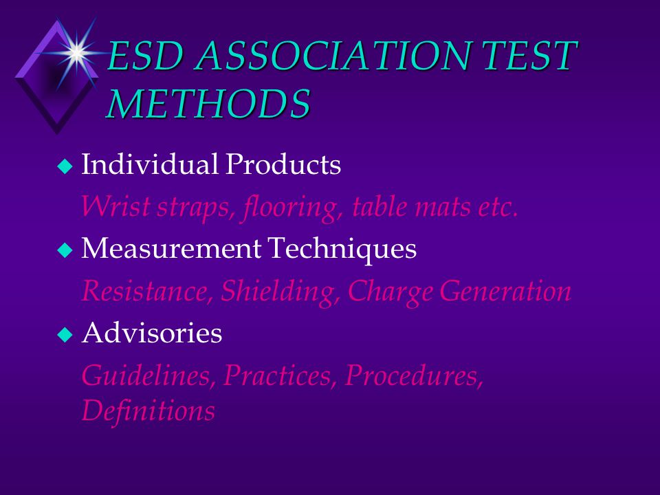 ESD ASSOCIATION TEST METHODS