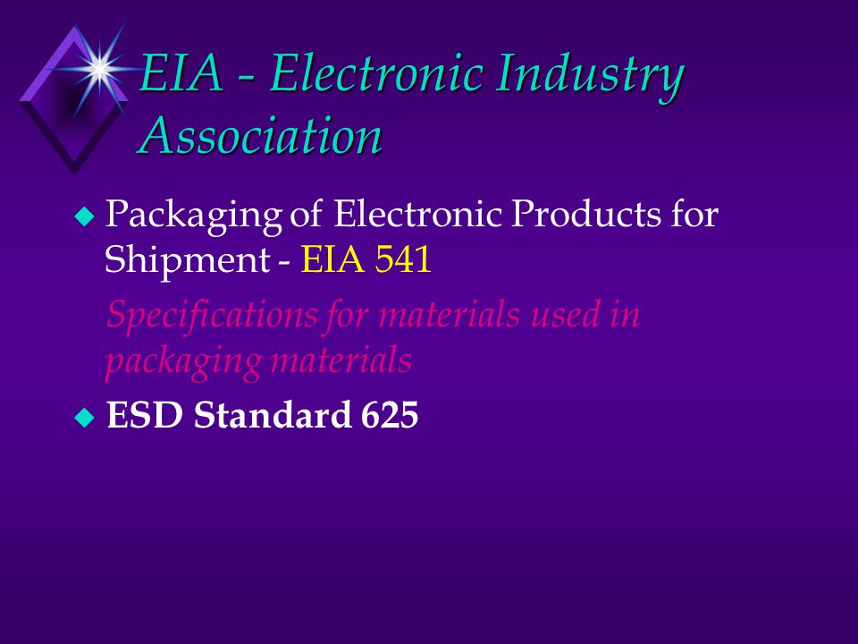 EIA - Electronic Industry Association