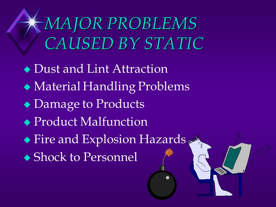MAJOR PROBLEMS CAUSED BY STATIC