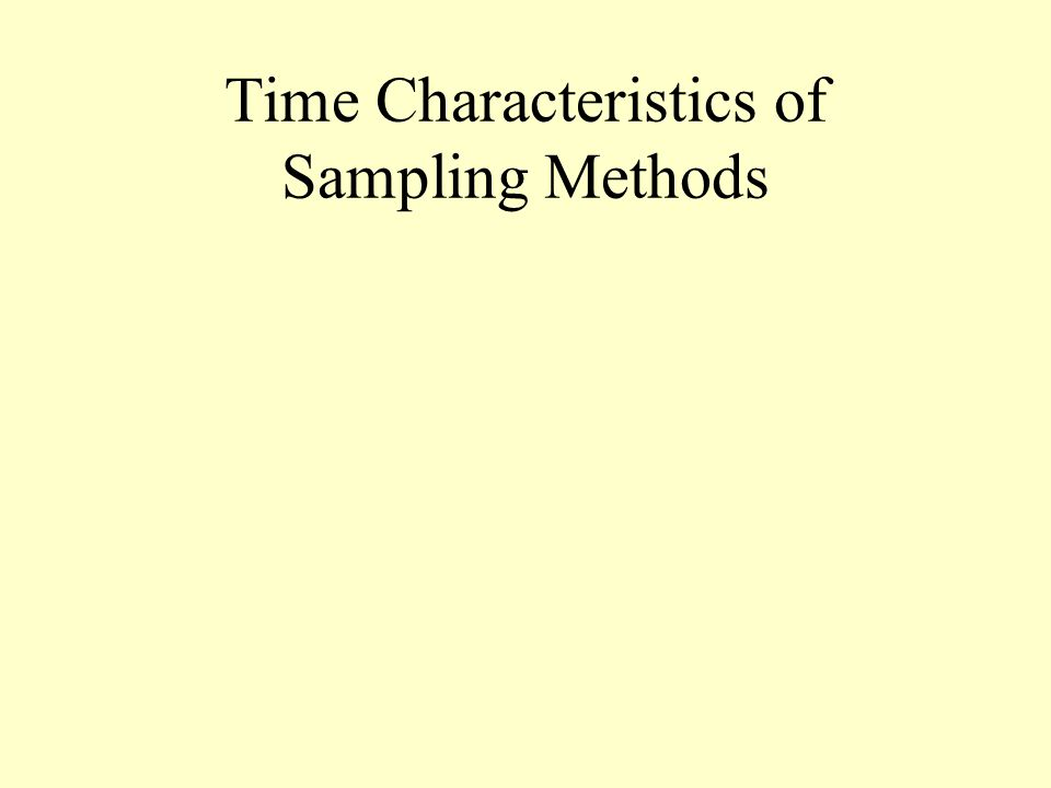 Time Characteristics of Sampling Methods