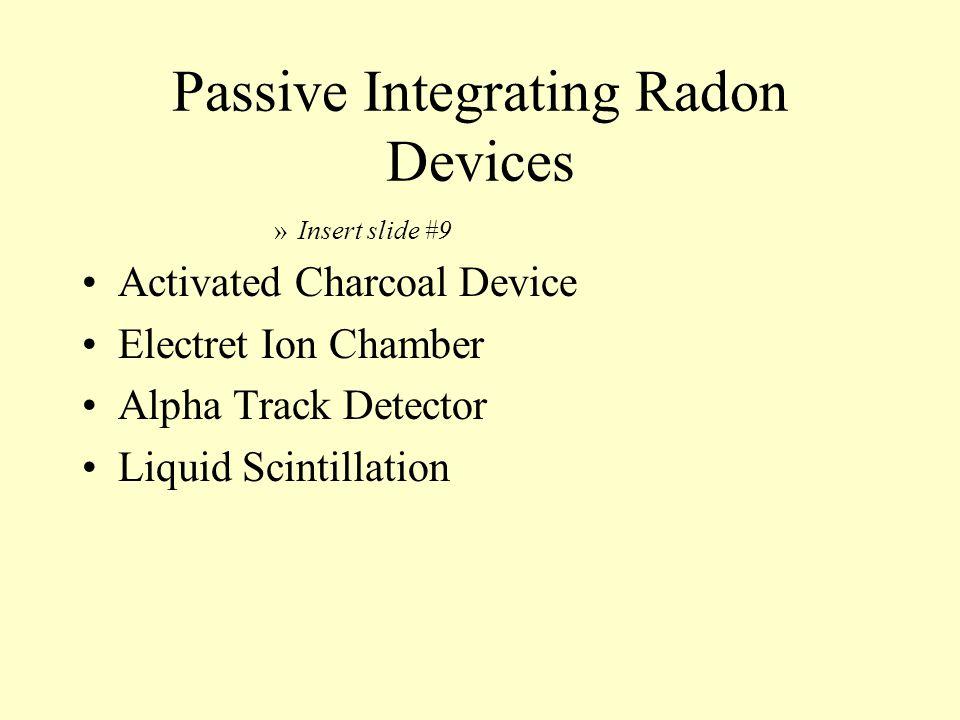 Passive Integrating Radon Devices