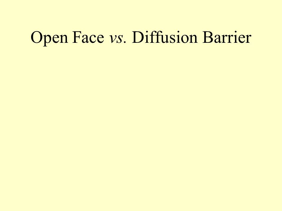 Open Face vs. Diffusion Barrier