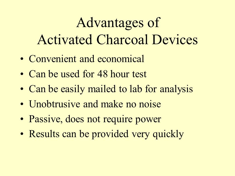 Advantages of Activated Charcoal Devices