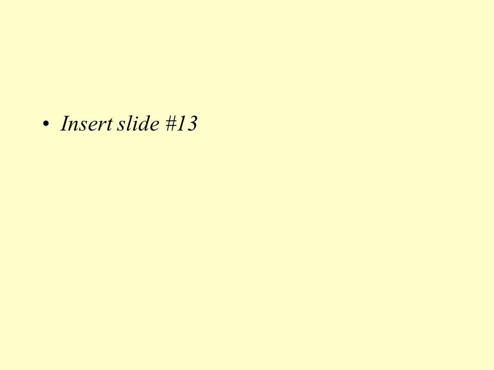 Insert slide #13