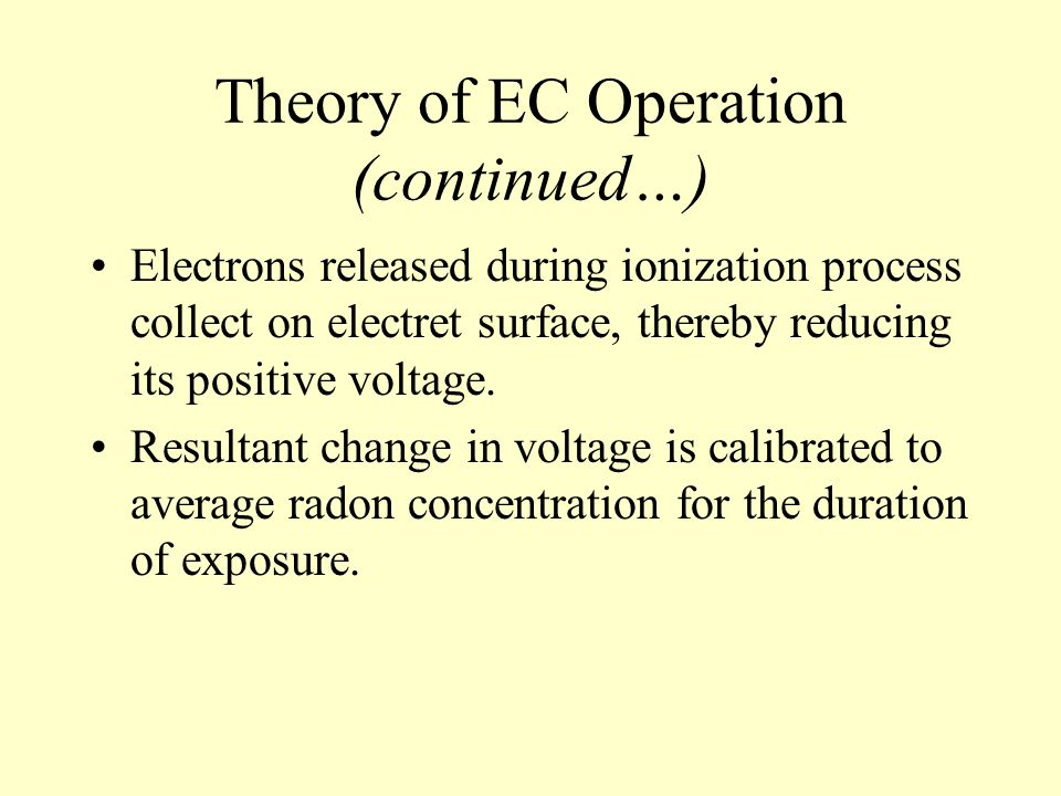 Theory of EC Operation (continued…)