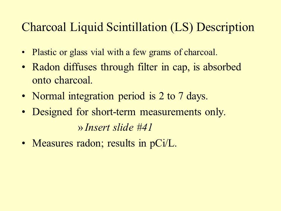 Charcoal Liquid Scintillation (LS) Description