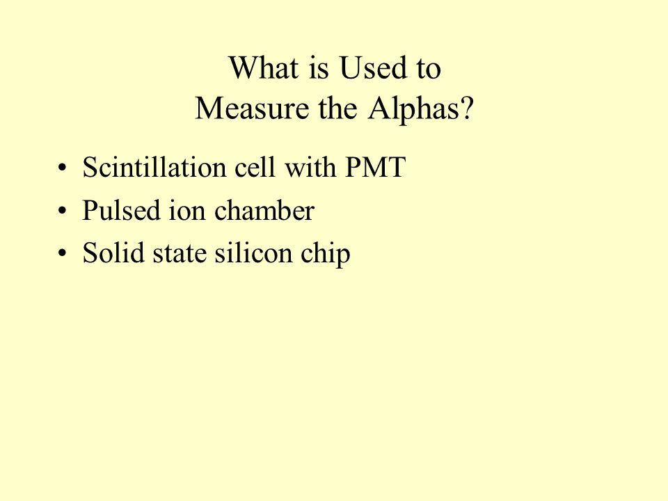 What is Used to Measure the Alphas