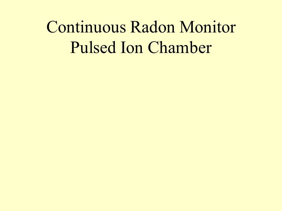 Continuous Radon Monitor Pulsed Ion Chamber