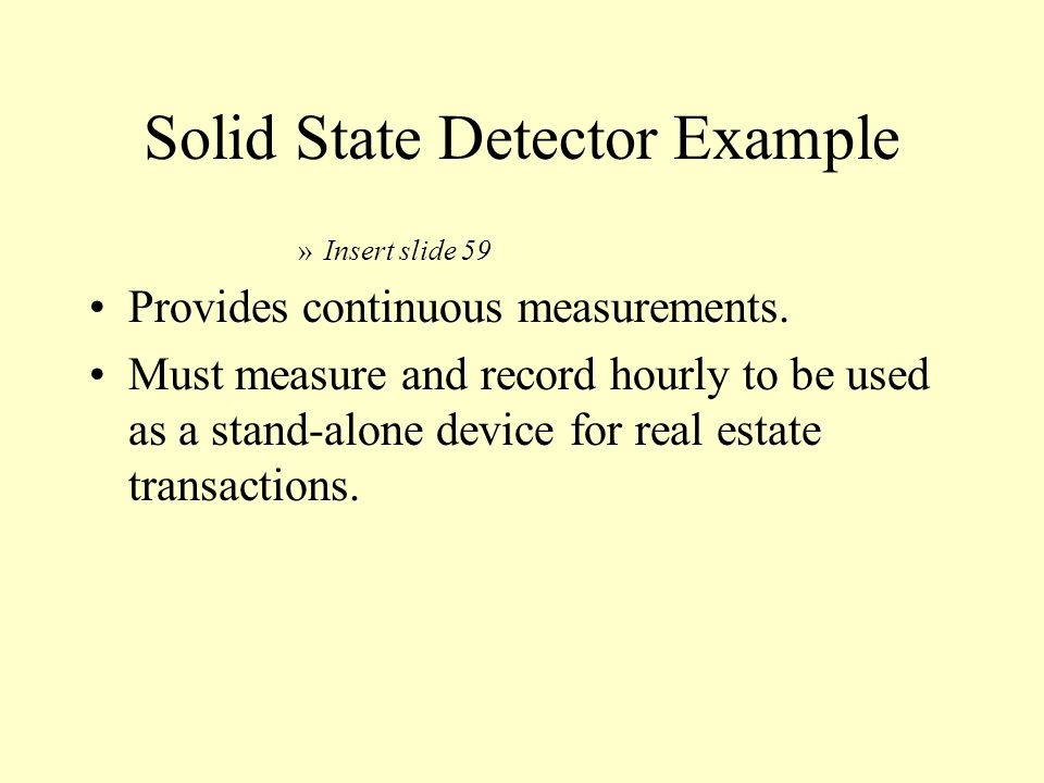 Solid State Detector Example