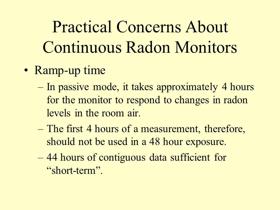 Practical Concerns About Continuous Radon Monitors
