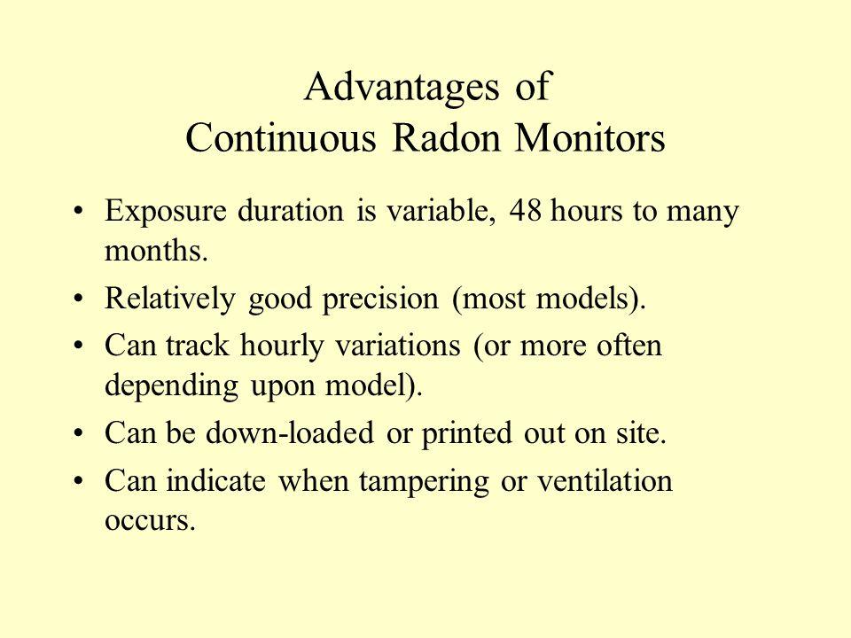 Advantages of Continuous Radon Monitors